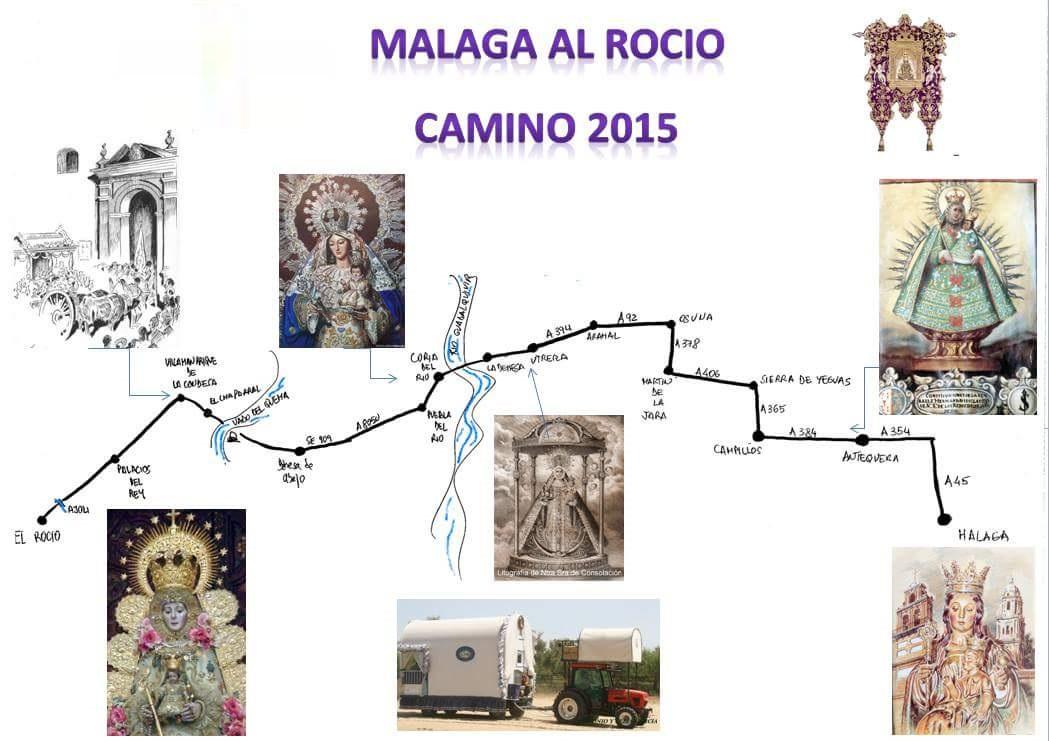 MAPA DEL CAMINO DEL ROCIO 2015