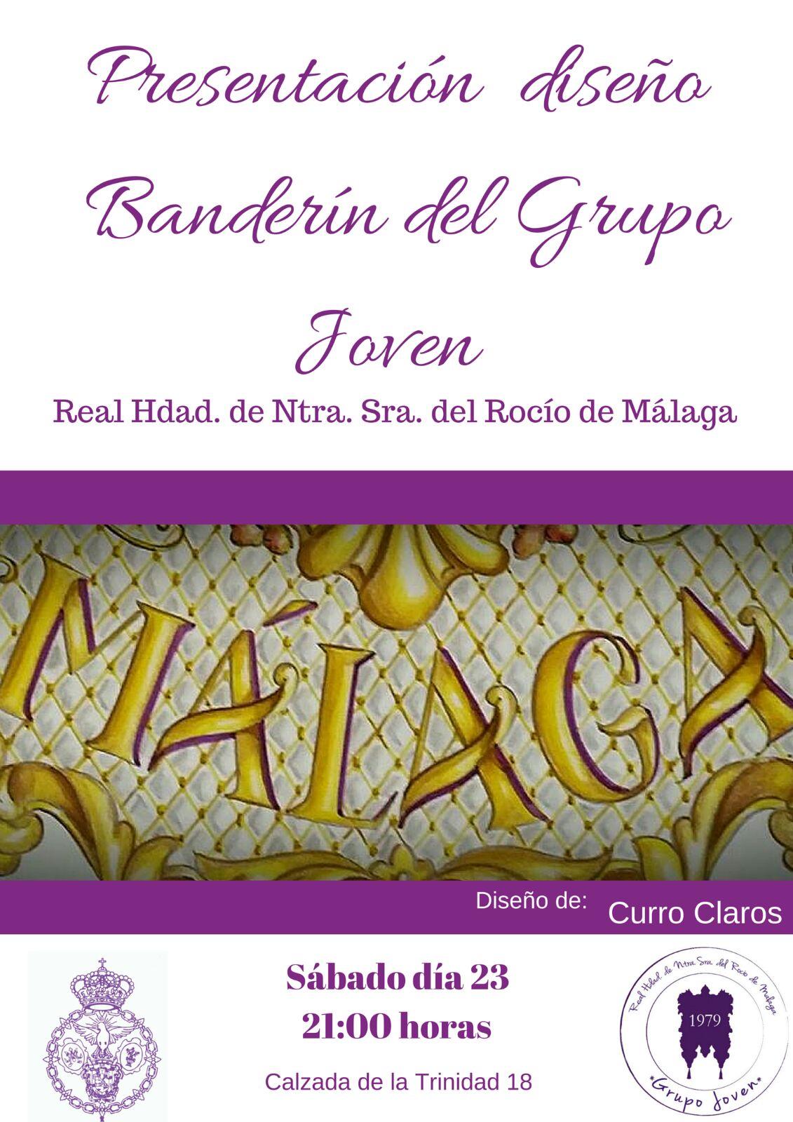 Presentación nuevo diseño Banderín Grupo Joven de la Real Hermandad de Nuestra Señora del Rocio de Málaga