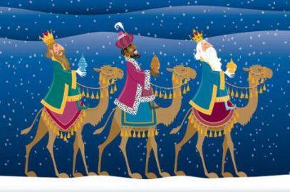 Reyes Magos de Oriente llegando a la Hermandad del Rocio