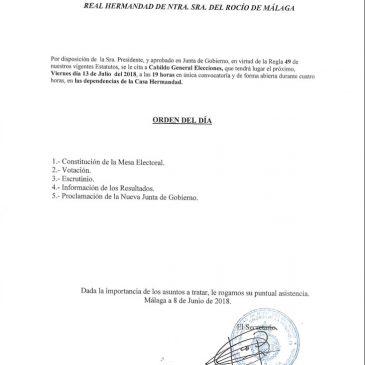 CABILDO GENERAL ELECCIONES