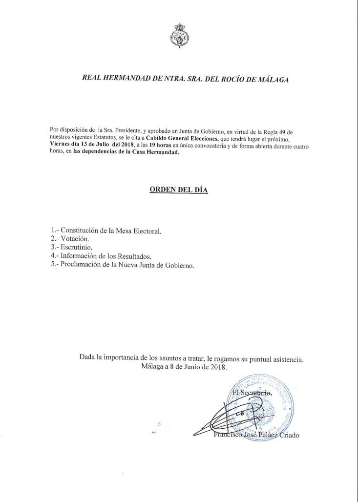 Cabildo General Elecciones 2018