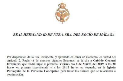 Cabildo General Ordinario 2019