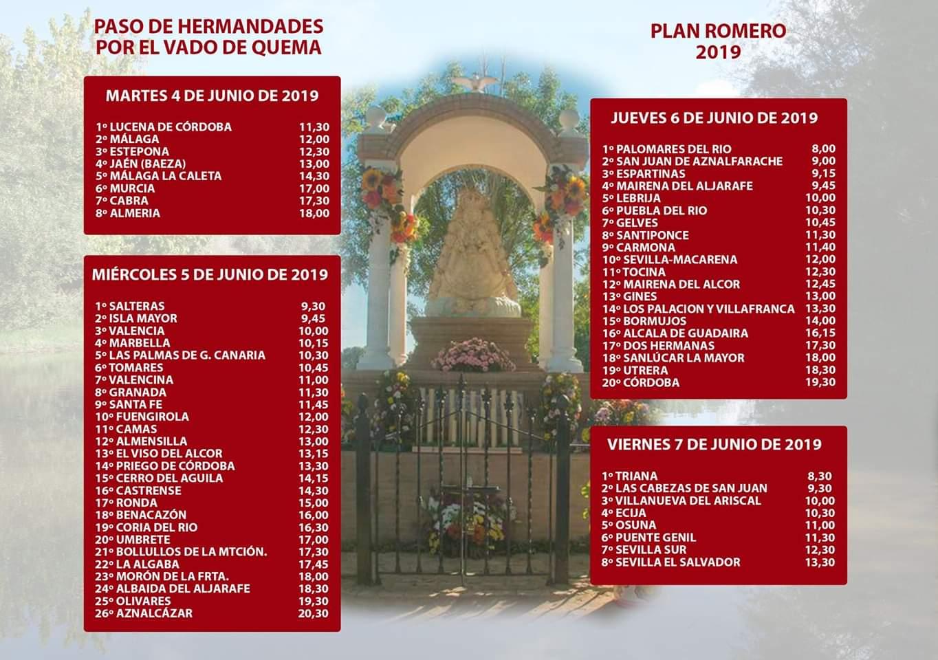 PASO DE HERMANDADES POR EL VADO DEL QUEMA