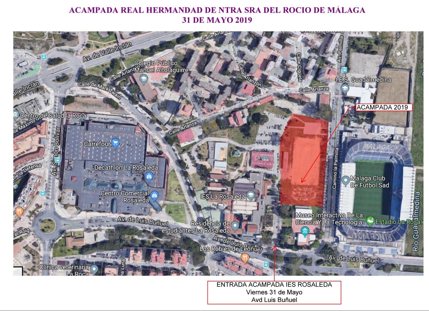 Acampada Real Hermandad de Nuestra Señora del Rocio de Málaga - 31 de mayo 2019